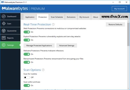 Malwarebytes Premium 3.1.1.1722 Beta + Patch Download