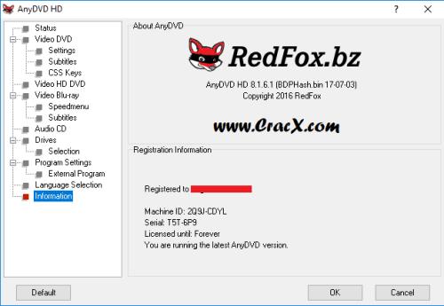 RedFox AnyDVD HD 8.1.6.1 Keygen & Activator Download