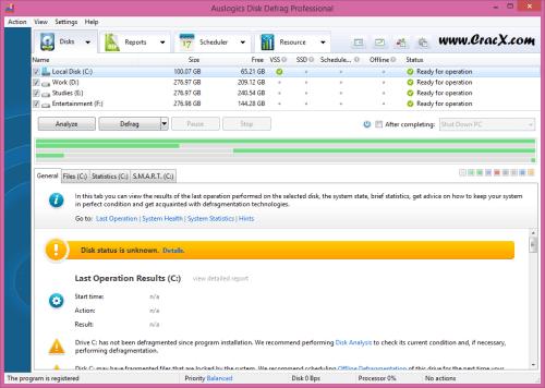 Auslogics Disk Defrag Professional 4.8.2 Patch Key Download