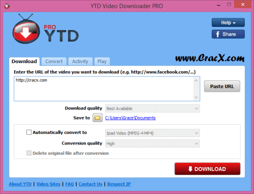 YTD Video Downloader PRO 5.8.7 License Key + Patch Download