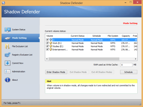 Shadow Defender 1.4.0.672 Patch & Serial Key Download