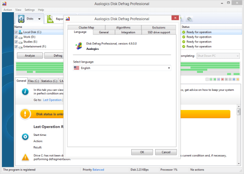 Auslogics Disk Defrag Professional 4.9.0 Patch & License Key Download