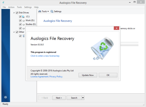 Auslogics File Recovery 8.0.6.0 Keygen & Activator Download