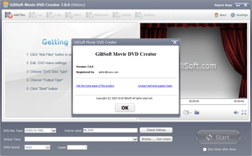 GiliSoft Movie DVD Creator 7.0.0 Keygen & Activator Download