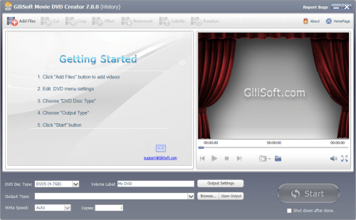 GiliSoft Movie DVD Creator 7.0.0 Patch & License Key Download