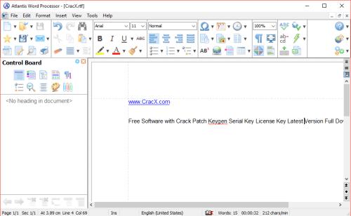 Atlantis Word Processor 3.2.4.1 Crack & Serial Key Download