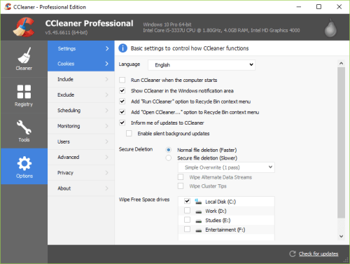 CCleaner Pro 5.45.6611 Full Crack & Serial Key Download