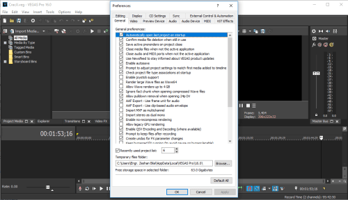 MAGIX Vegas Pro 16.0.0.248 Full Crack & License Key Download