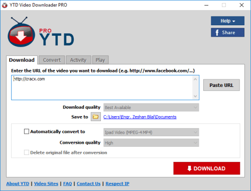 YTD Video Downloader Pro 5.9.10 License Key + Patch Download