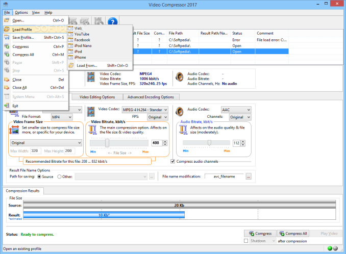Advanced Video Compressor 2020 Crack With Serial Key Full