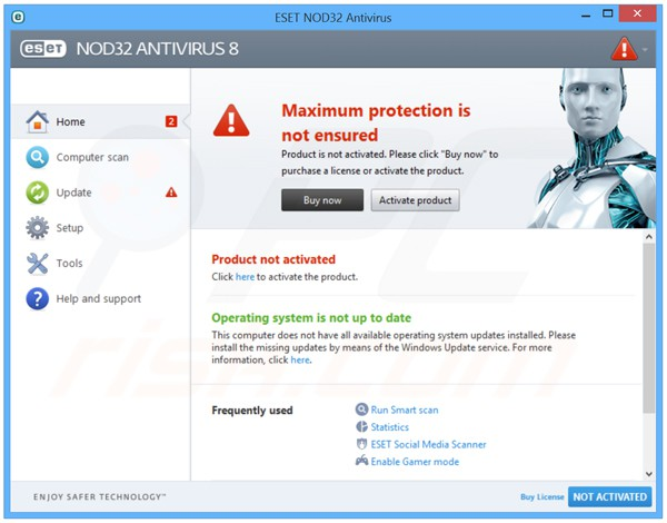 nod smart security 8 username and password