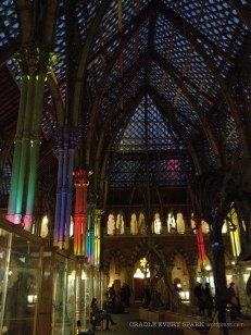 Inside the Natural History Museum after dark. Yes, everything looked a little more ominous!