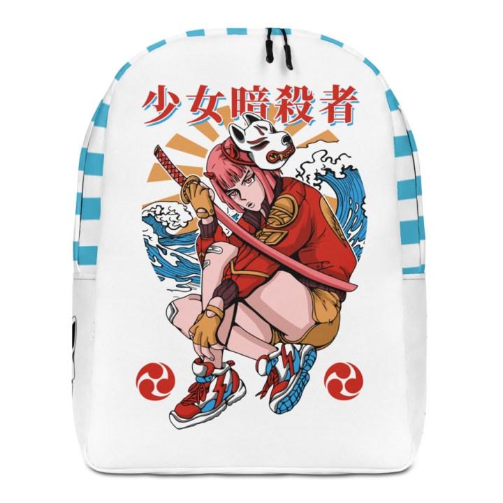 Red Samurai Girl Backpack
