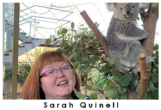 Autistic researcher Sarah Quinnell, with colleague.