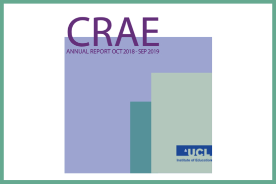 Image of the cover page of the CRAE Annual Report