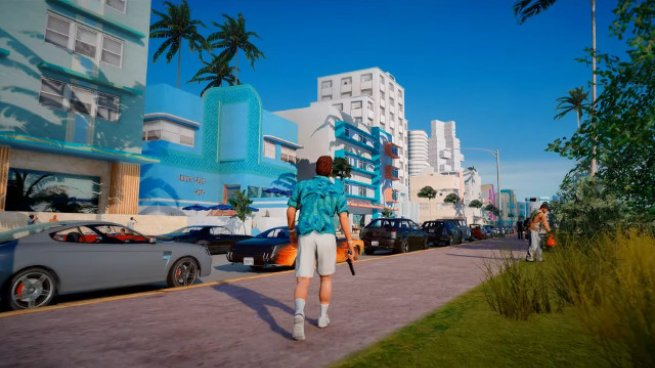 Still from GTA Vice City remastered mod