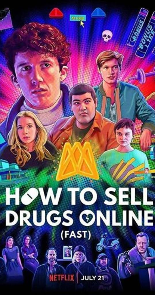 How to sell drugs online poster