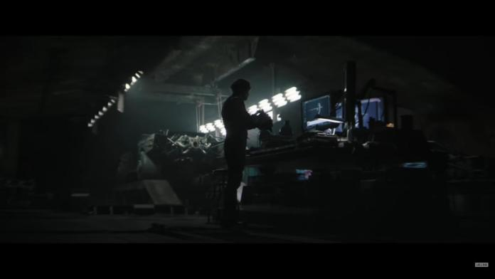 Image of Batman played by Robert Pattinson in his batcave