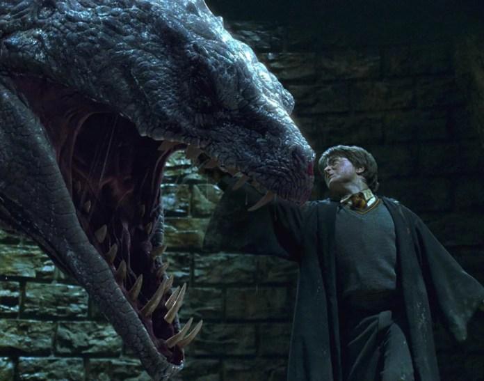 Harry slays the basilisk