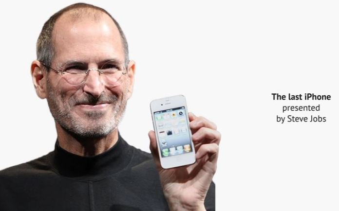 The last iPhone presented by Steve Jobs
