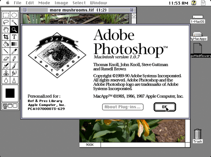 Adobe Photoshop 1.0.7
