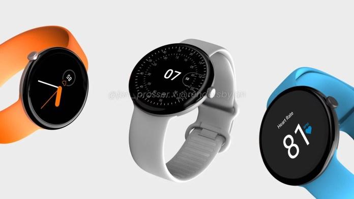 Google Pixel Watch leaked render hints Round Design and Minimalist UI - Craffic