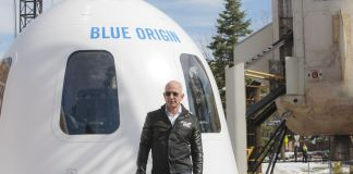 Jeff and Mark Bezos will fly to space on July 20 in Blue Origin's New Shepard