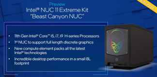 Intel NUC 11 Extreme 'Beast Canyon' is now available to pre-order
