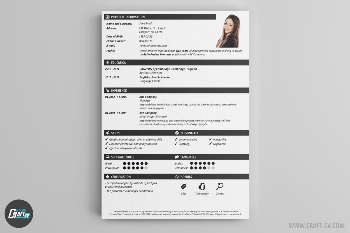 You should tailor your resume to the job announcement rather than sending out the same resume for every job. Cv Maker Professional Cv Examples Online Cv Builder Craftcv