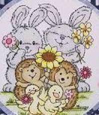 Stampavie Stamps - Flower Friends