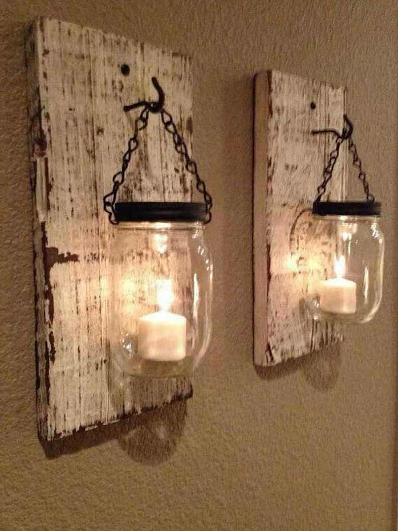 18 Rustic Wall Art & Decor Ideas That Will Transform Your ... on Rustic Wall Sconces id=23520