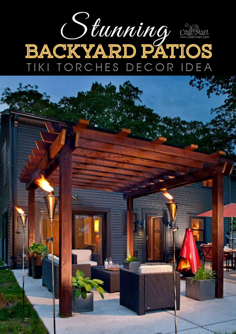 Stunning Backyard Patio Designs and Lighting Ideas - Craft ... on Back Patio Landscape Ideas id=18908