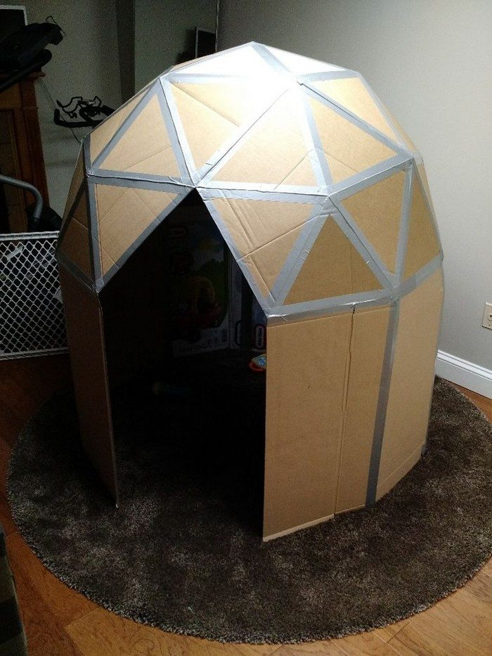 How To Make A Cardboard Play Dome Craft Projects For