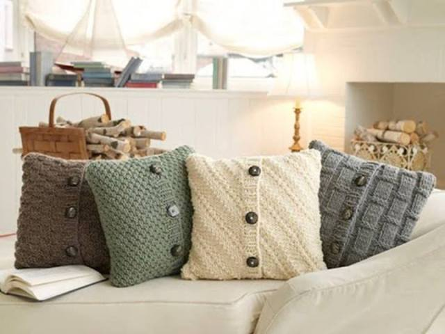 Image result for Sweater pillow cases