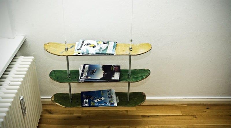 Ideas For Upcycling Skateboard Decks Easy DIY For All