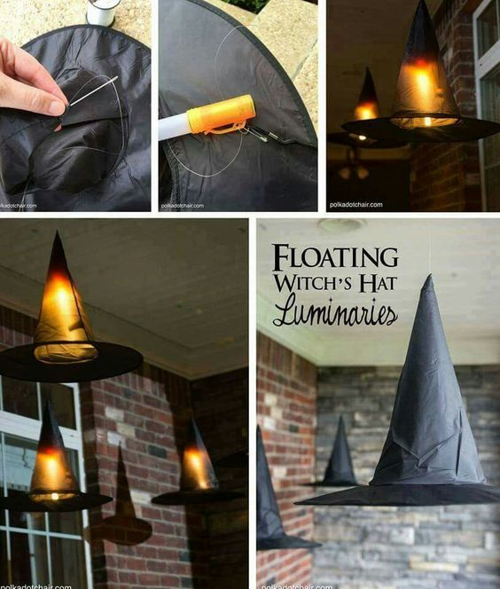 Floating Witches Hat Luminary