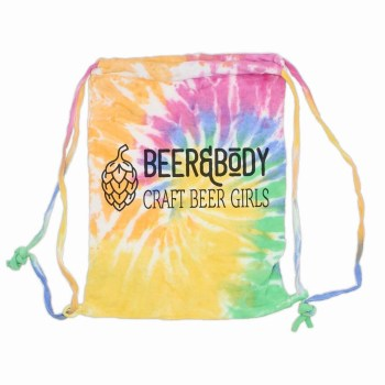 fleece tie dye bag
