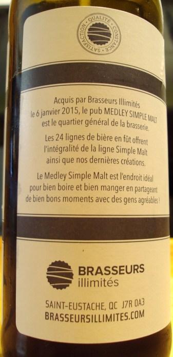 Simple Malt 1er Anniversaire Scotch Porter Impériale Brasseurs Illimités craftbeerquebec.ca 2