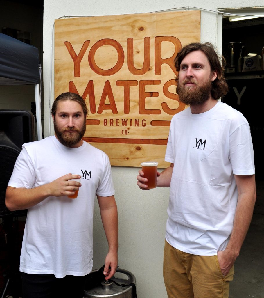 Matt Hepburn and Christen McGarry of Your Mates Brewing Co
