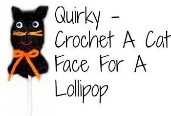Cat Lollipop Cover: Crochet Halloween