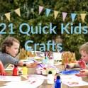 21 Quick Kids Crafts Ideas