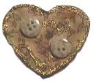 Glittering Heart Broach