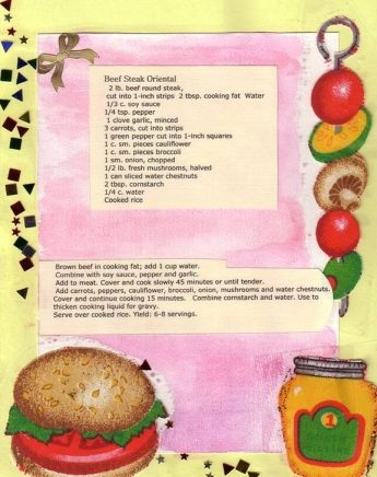 Recipe Scrapbooking