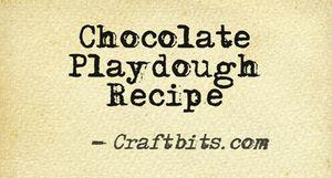 Chocolate Playdough Recipe