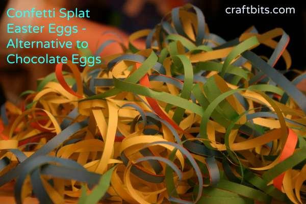 Confetti Splat Easter Eggs