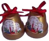 Terracotta Christmas Bells