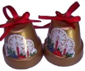 Terracotta Christmas Bells