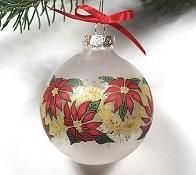 Glass Poinsettia Ball