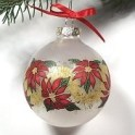 Glass Poinsettia Ball