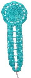 Key Shaped Bookmark Crochet Pattern